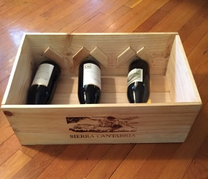 wine case with wine