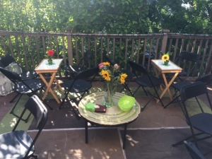table on patio